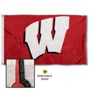 Wisconsin Badgers Appliqued Nylon Flag