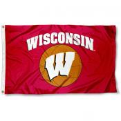 Wisconsin Badgers Basketball Flag