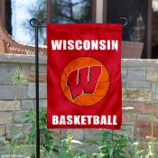 Wisconsin Badgers Basketball Garden Flag