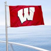 Wisconsin Badgers Boat Flag
