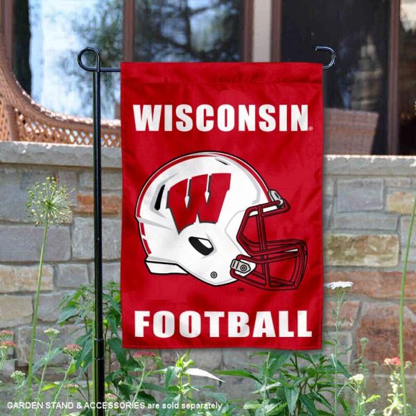 Wisconsin Badgers Football Garden Flag