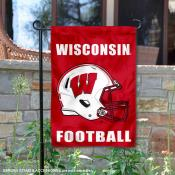 Wisconsin Badgers Football Garden Flag