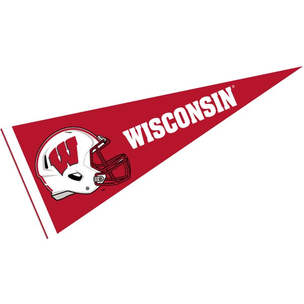 Wisconsin Badgers Football Helmet Pennant