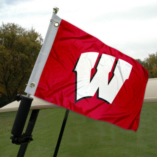 Wisconsin Badgers Golf Cart Flag