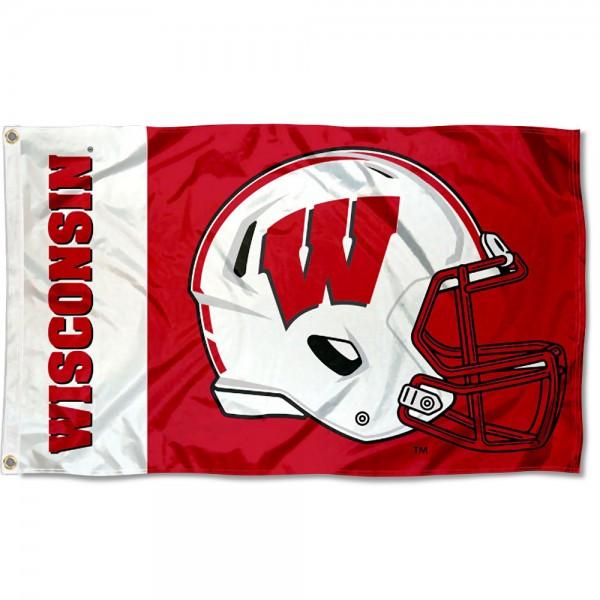 Wisconsin Badgers Helmet Flag