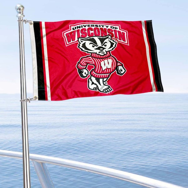 Wisconsin Badgers Mascot Nautical and Golf Cart Flag