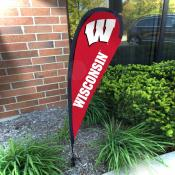 Wisconsin Badgers Mini Teardrop Garden Flag