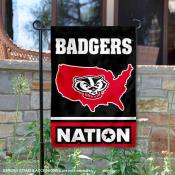 Wisconsin Badgers Nation Garden Flag