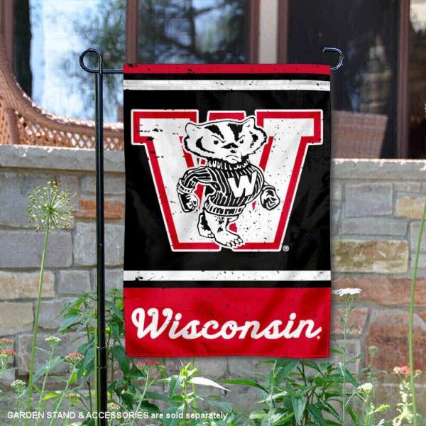 Wisconsin Badgers Retro Throwback Garden Banner