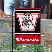 Wisconsin Badgers Retro Throwback Garden Banner