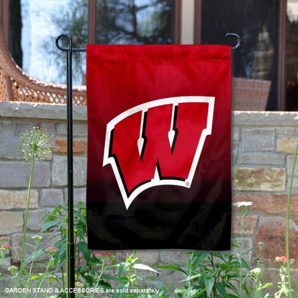 Wisconsin Badgers Two Tone Garden Banner