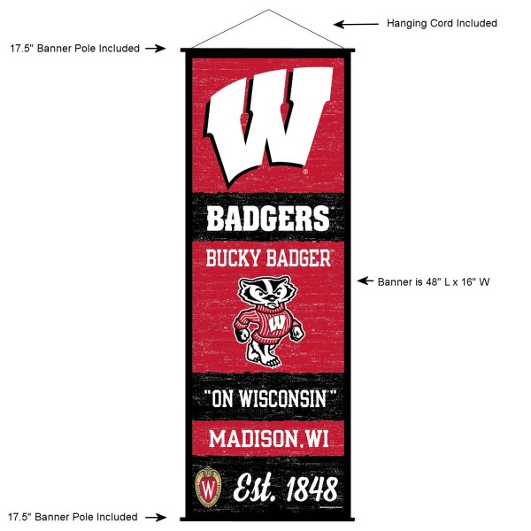Wisconsin Badgers Wall Banner and Door Scroll