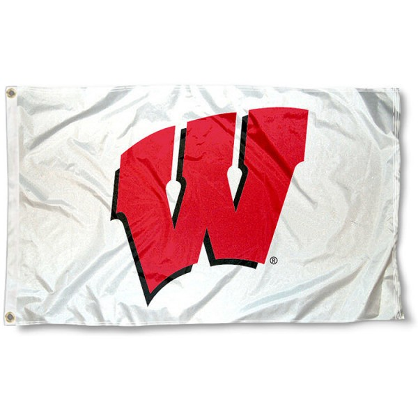 Wisconsin Badgers White Flag