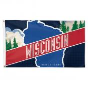 Wisconsin Established 1848 3x5 Foot Flag