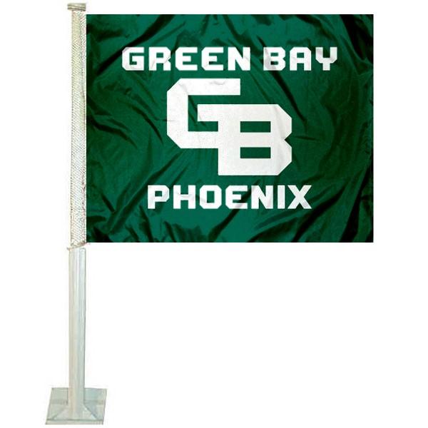 Wisconsin Green Bay Phoenix Car Flag