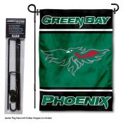 Wisconsin Green Bay Phoenix Garden Flag and Yard Pole Holder Set