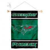 Wisconsin Green Bay Phoenix Window Hanging Banner with Suction Cup
