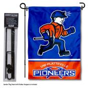 Wisconsin Platteville Pioneers Garden Flag and Yard Pole Holder Set