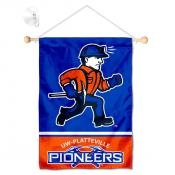 Wisconsin Platteville Pioneers Window Hanging Banner with Suction Cup