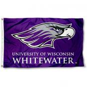 Wisconsin UW Whitewater Warhawks Flag