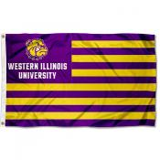 WIU Leathernecks American Nation Flag