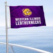 WIU Leathernecks Boat Nautical Flag