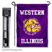 WIU Leathernecks Garden Flag and Holder