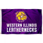 WIU Leathernecks Wordmark Flag