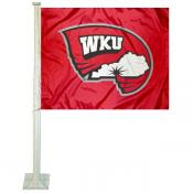 WKU Hilltoppers Logo Car Flag