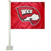 WKU Hilltoppers Logo Car Flag