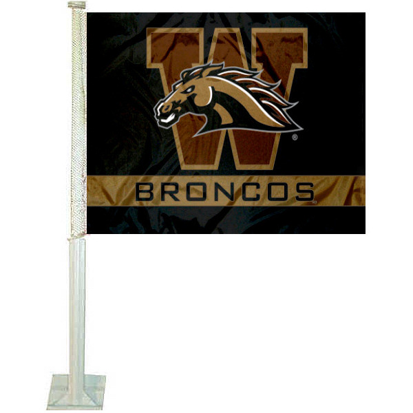 WMU Broncos Car Flag