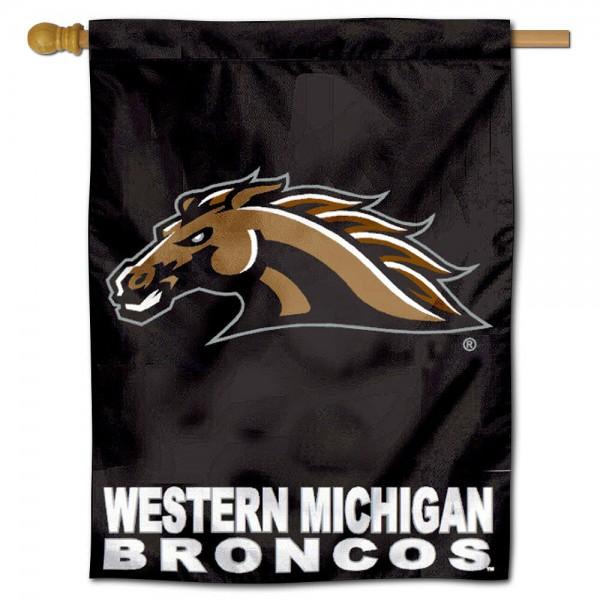 WMU Broncos Polyester House Flag