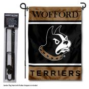 Wofford College Garden Flag and Yard Pole Holder Set
