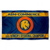 Womens Basketball LSC Conference Champions Texas A&M Commerce Lions 3x5 Foot Flag