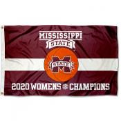 Womens Basketball SEC Conference Champions MSU Bulldogs 3x5 Foot Flag