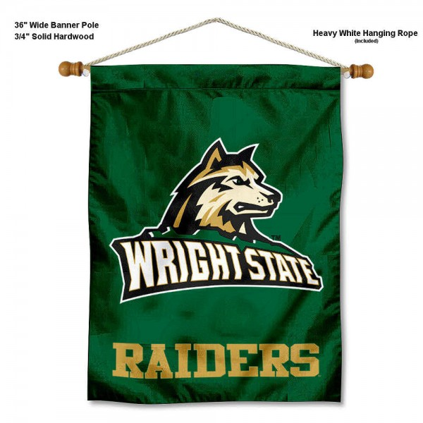 Wright State Raiders Banner with Pole
