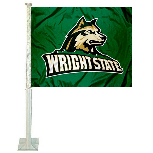 Wright State Raiders New Logo Car Flag