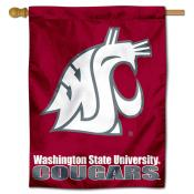 WSU Cougars Polyester House Flag