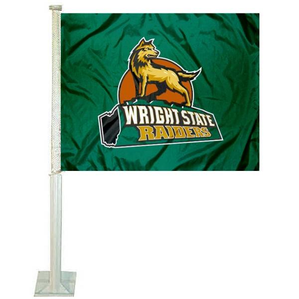 WSU Raiders Car Flag