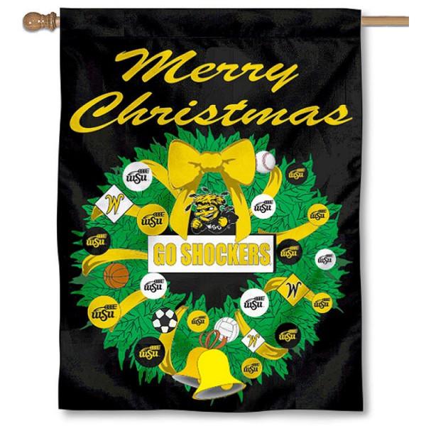 WSU Shockers Holiday Flag
