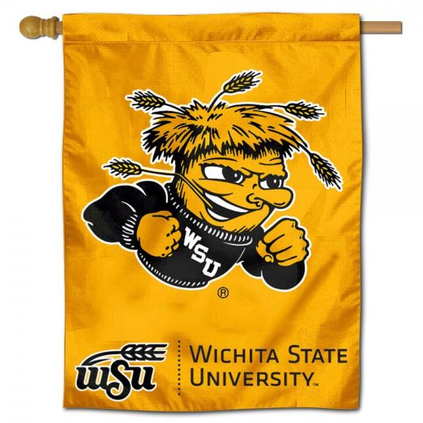 WSU Shockers Polyester House Flag