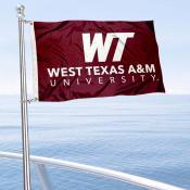 WTAMU Buffaloes Boat Nautical Flag