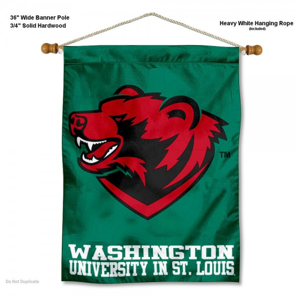 WUSTL Bears Banner with Pole