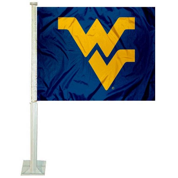 WVU Mountaineers Blue Car Flag
