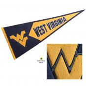WVU Mountaineers Embroidered Wool Pennant