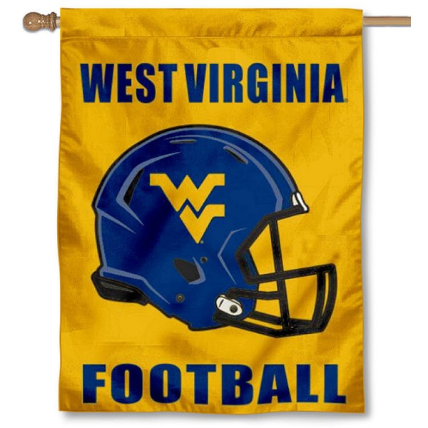 WVU Mountaineers Football House Flag