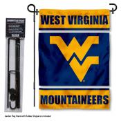 WVU Mountaineers Garden Flag and Holder
