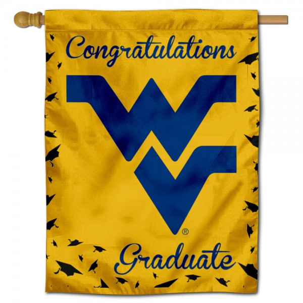 WVU Mountaineers Graduation Banner