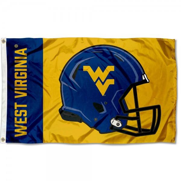 WVU Mountaineers Helmet Flag