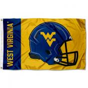WVU Mountaineers Helmet Flag